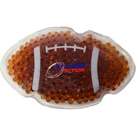 Football Gel Bead Hot Cold Pack (Full Color Logo)