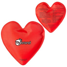 Heart Nylon Covered Gel Hot Cold Pack