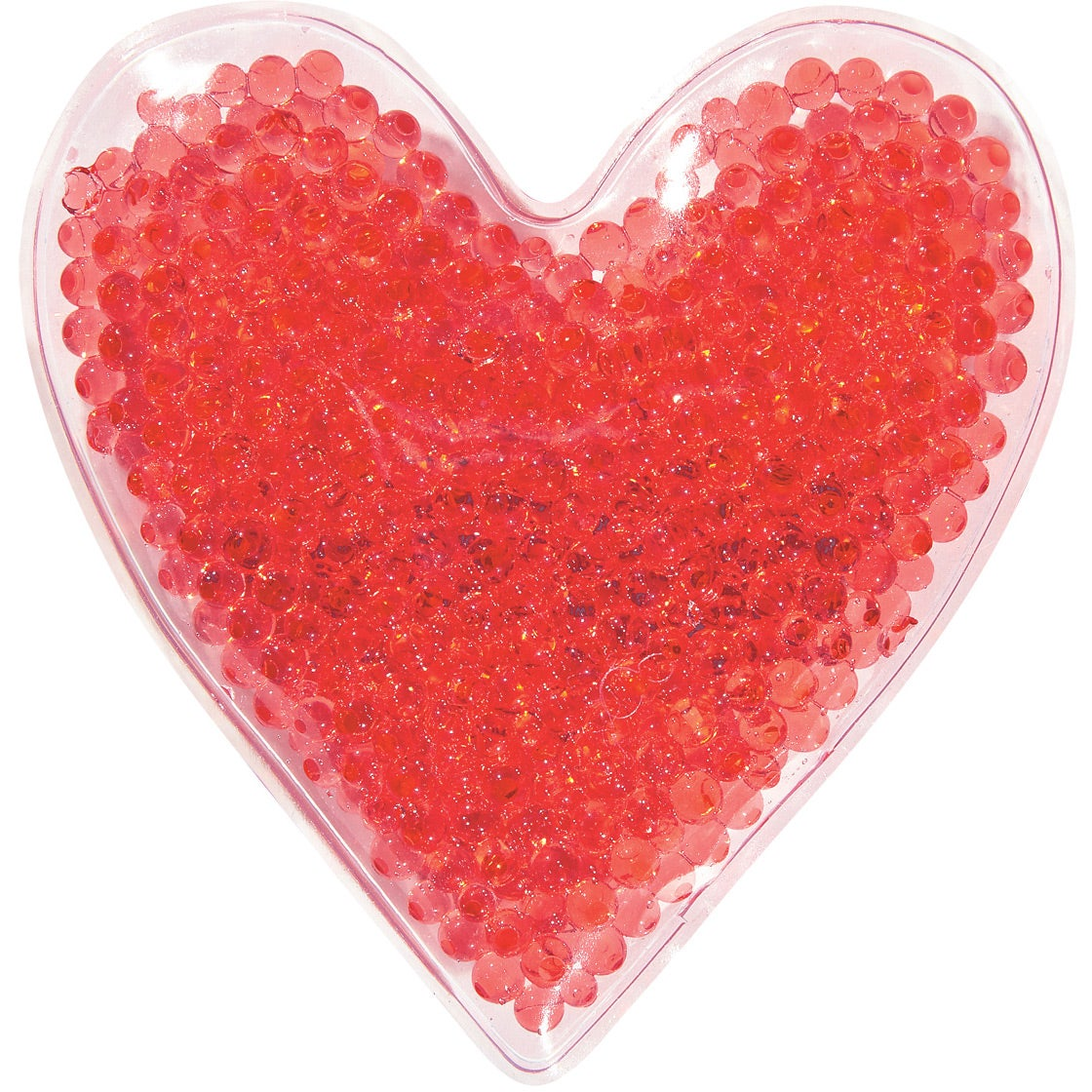 Click here to order heart shape gel beads hot cold packs printed with your logo for 94¢ ea