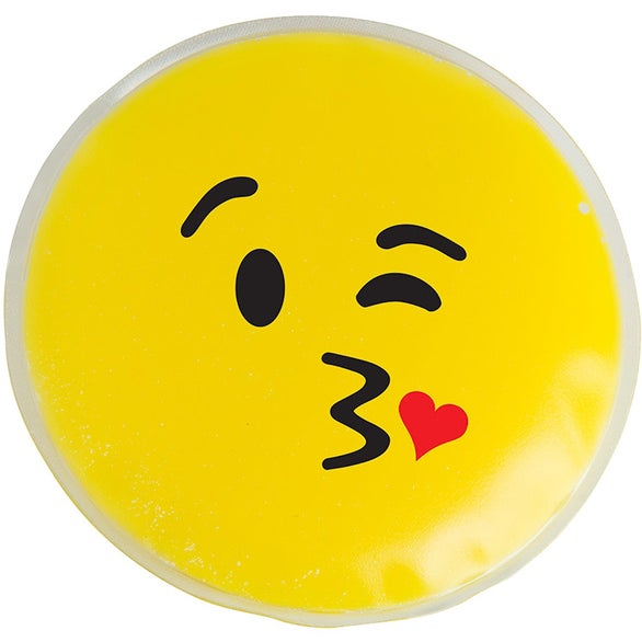 Yellow Kiss Kiss Emoji Chill Patch