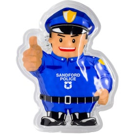 Police Officer Aqua Pearls Hot Cold Pack
