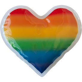 Rainbow Gel Beads Hot/Cold Pack Heart