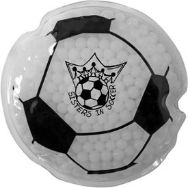 Soccer Ball Gel Bead Hot Cold Pack (Ink Imprint)