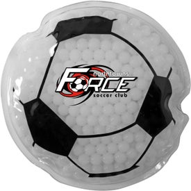 Soccer Ball Gel Bead Hot Cold Pack (Full Color)