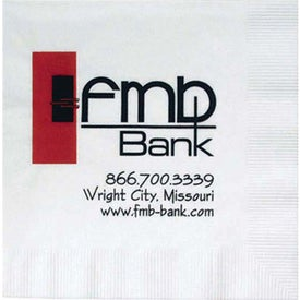 1 Ply Coin Edge Embossed Beverage Napkin (Large Quantity)