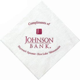 1-Ply Linen Embossed White Beverage Napkin