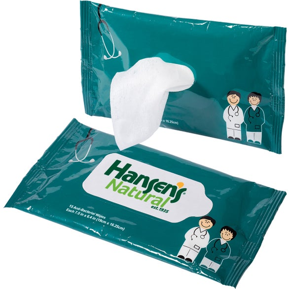 Teal Antibacterial Pouch Wipes