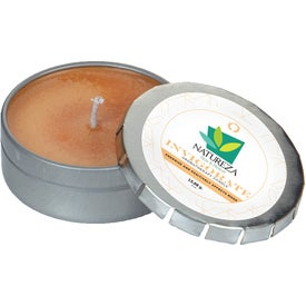 Essential Oil Infused Candle in Small Push Tin