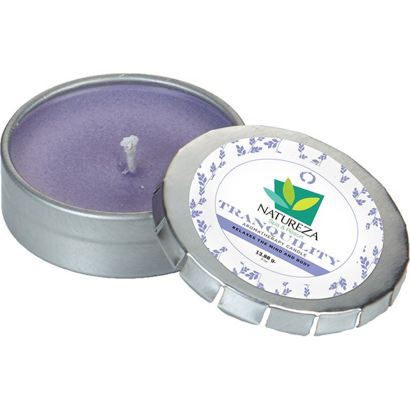 Silver Essential Oil Infused Candle in Small Push Tin