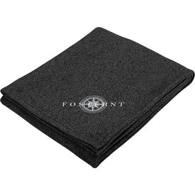 Heathered Fleece Blanket (Ink Imprint)