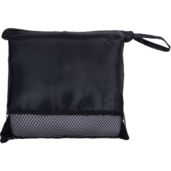 Black / Gray Travel Blanket in Pouch