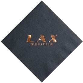 Foil Stamped Colored Beverage Napkins