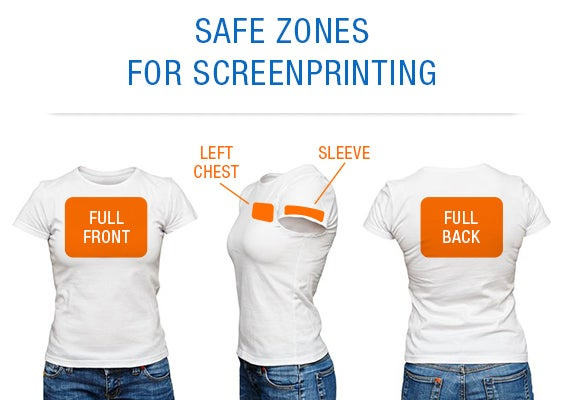 safe zones for screen printing