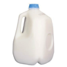 Milk Carton:  Example of SPI Code 2 Plastic