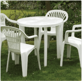 Patio Furniture:  Example of SPI Code 4 Plastic