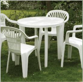 Patio Furniture:  Example of SPI Code 4 Plastic