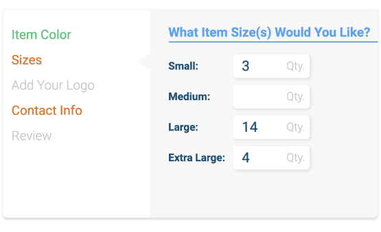 Can I Order Any Shirt Size Breakdown I Want? | FAQ - Quality Logo ...