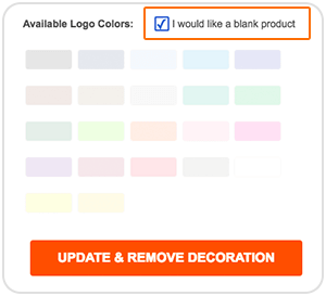 Blank logo selection