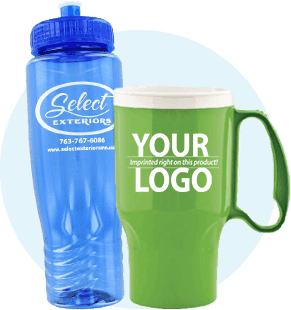 Water Bottles and Travel Mugs