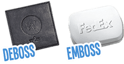 The Difference Between Deboss And Emboss Quality Logo Products