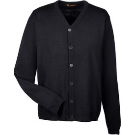 Harriton Men''s Pilbloc V-Neck Button Cardigan Sweaters