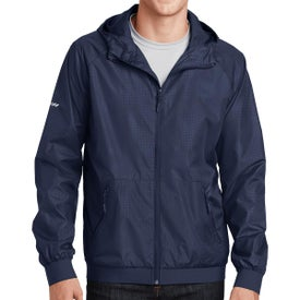 Sport-Tek Embossed Hooded Wind Jackets (Men''s)