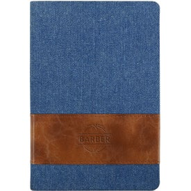 Denim Journals with Leatherette Band (80 Sheets)