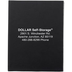 "Sticky Note Pad with Black Finish Cardboard Cover (50 Sheets, 3"" x 4"")"