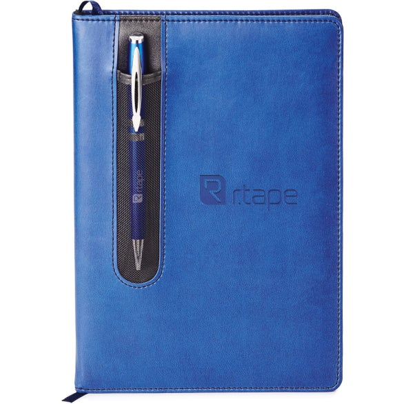 Blue Donald Journal with Twist Action Ballpoint Pen