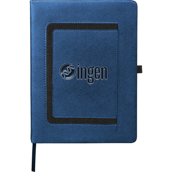 Navy Blue Large Roma Journal with Horizontal Phone Pocket