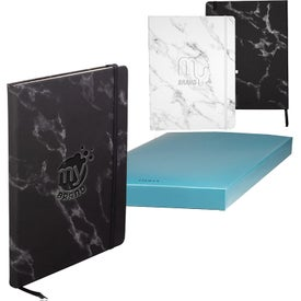 Leeman Large Bound Softcover Marble Journal (96 Sheets)