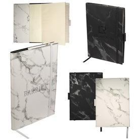 Leeman Medium Marble Refillable Journal (80 Sheets)