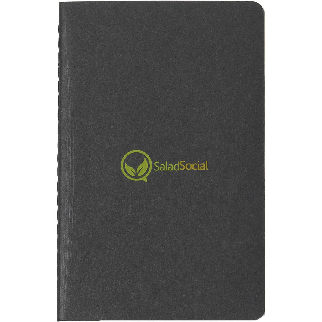 Black Moleskine Cahier Ruled Pocket Notebook Monogrammed