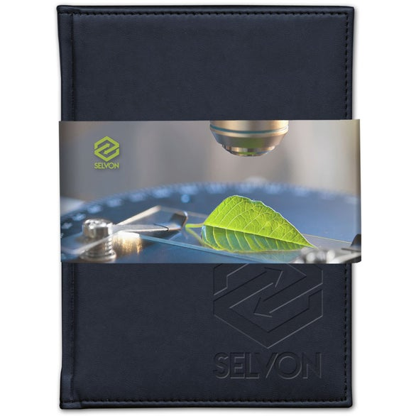 Navy Blue Pedova Plus Bound JournalBook with Wrap