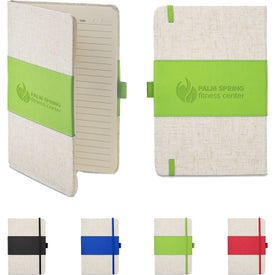Polyurethane and Heathered Fabric Journal (80 Sheets)