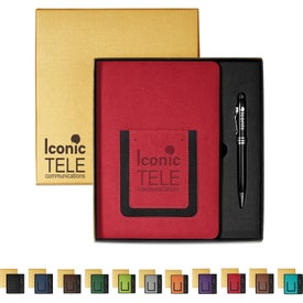 Roma Journal and Executive Stylus Pen Sets (80 Sheets)