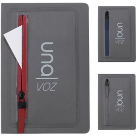 Sleek Zippered Pocket Journal