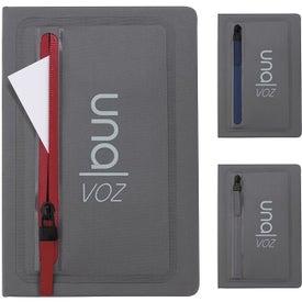 Sleek Zippered Pocket Journal