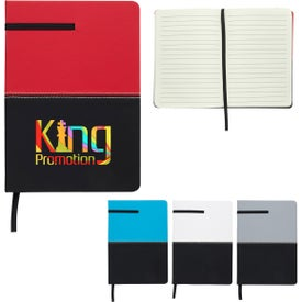 Two-Tone Leatherette Journal (40 Sheets)
