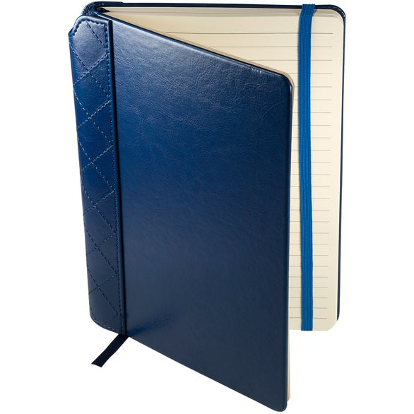 Navy Venezia Quilted Journal with Pen Slot