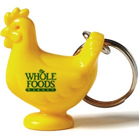 Acrylic Chicken Shape Keychain