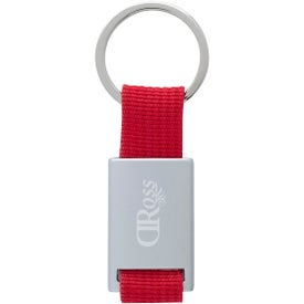 Aluminum Key Tag With Web Strap
