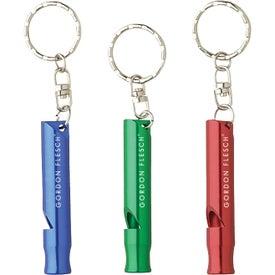 Aluminum Whistle Keyring