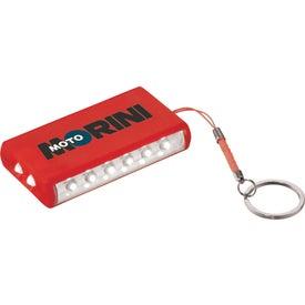 Aura 8 LED Keychain Light for Advertising