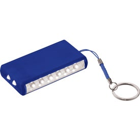 Aura 8 LED Keychain Light Imprinted with Your Logo