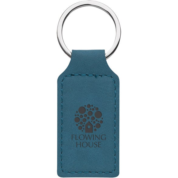 Teal Belvedere Stitched Key Tag