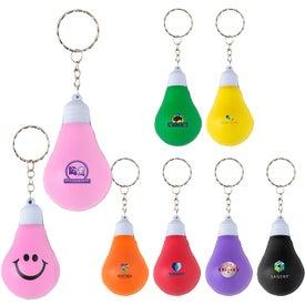 Bright Idea Stress Ball Keychain
