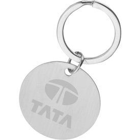 Chrome Round Keychain