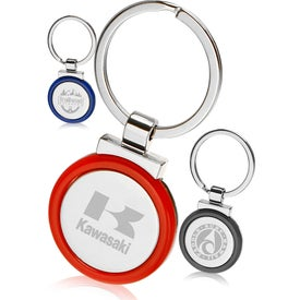 Color Accent Metal Keychain