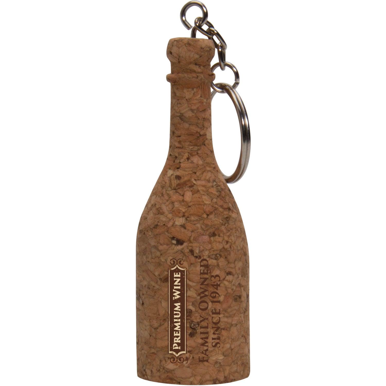 Cork Wine Bottle Keytag
